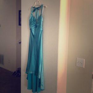 Tiffany Blue ABS by Allen Schwartz hi-lo dress